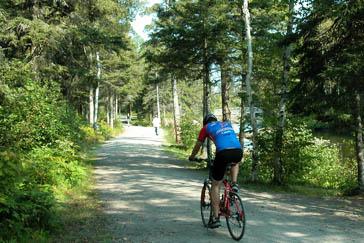 Vélo et marcheur Parc Rivière-du-Moulin